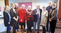 Villagers celebrate hall extension and surge in bookings