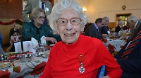 Heroic wartime nurse at festive lunch