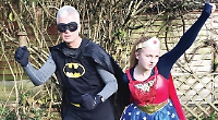 Father and daughter to run 10km dressed as superheroes