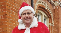 Councillor dons Santa's red suit in the name of research