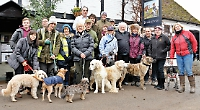 Former Dr Who star joins dog walk in aid of rescue charity