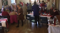 Late lunch for village pensioners