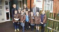 Model pupils raise £500 for disabled children's centre