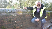 Pond wall is in danger of collapse, says councillor