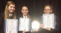 Girls win public speaking contest with familiar subject