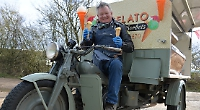 Ice cream served from vintage tricycle to attract visitors