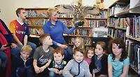 Birds of prey swoop into library for children's workshop