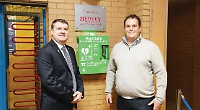 Housebuilders and charity join forces to donate defibrillators