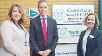 MP discusses cuts in nursery visit