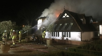 Huge house fire tackled in Goring
