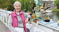 Yarn bombers are back with a museum display