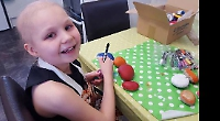 I paint rocks to cheer up other people, says girl in cancer fight