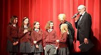 Mary Berry presents prize to schoolgirls at gala night