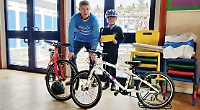 Families ready for cycle ride