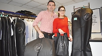 Dry cleaners trialling reusable suit covers