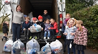 Pupils' old clothes go round the world to raise funds