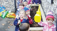 Pre-school children learn about growing