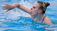 Synchronised swimming girl joins national squad