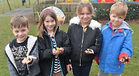 Scores of children take part in village egg hunt