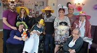 Bonnets and bunny ears at care home celebration