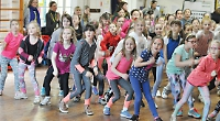 Colourful dance for Sport Relief