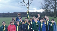 Cubs commerorate 45 years of pack with cherry tree planting