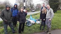 Volunteers clean up villages