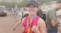 Despite heat and tears, marathon runner plans repeat