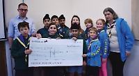 Scout group swims for charity