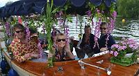 Shorter gardening festival kicks off with floral flotilla