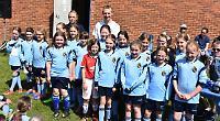 Girls rewarded for successful season on football pitch