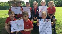 Pupils design anti-speeding posters for village streets