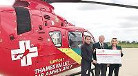 Golfers raise £11,000 for air ambulance
