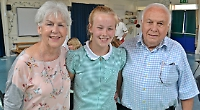 Pupils perform for their proud grandparents