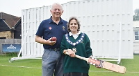 Councillor buys sight screens for cricket club