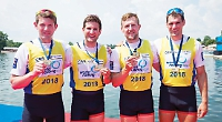 Leander trio help quad win gold at opening world cup