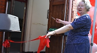 Former head unveils £1.4m music centre named after her
