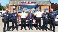 MP commends firefighters