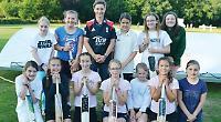 England cricket legend takes girls' training session