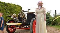 Chris Evans' film star car draws the crowds at village fund-raiser