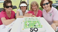 Village tennis club marks 50th anniversary with party