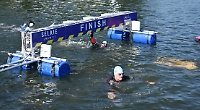 Record number of swimmers take on regatta course