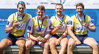 GB men's quad lay down marker with world cup win