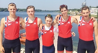 Shiplake College's GB rowers are narrowly edged out