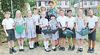 Pupils grow sunflowers to get in touch with nature
