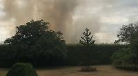 Eight fire crews battle field blaze
