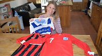Mother collects football shirts for poor orphans