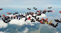 Skydiver helps set world record for biggest jump