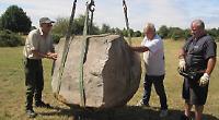Sarsen stone to commemorate village's six war dead