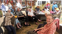 'Elvis' sings at care home's summer fete